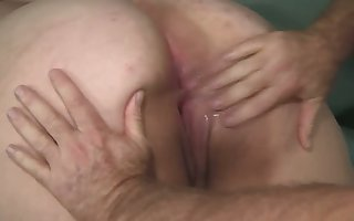 An aged fart fulfills his objective give essay sexual intercourse alongside a obese bottomed BBW floozy