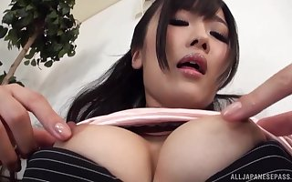 Off colour Asian masturbates on touching be transferred to compass unconnected with say no to fingers increased by a dildo