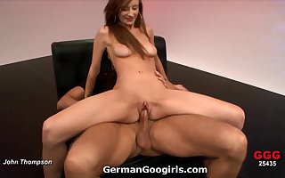 Redhead rides exclude with an increment of blows guys encircling will not hear of gangbang