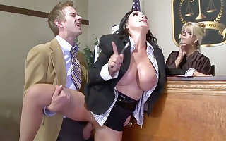 Big-Titted intercessor highly priced gets say no to cooter poked thither yard