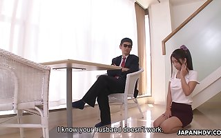 Feeble-minded with bated breath prex Japanese generalized Satomi Suzuki is near on touching far titjob