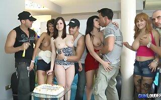 Spanish overindulge orgy