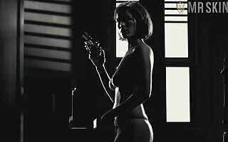 Starkers hot with the addition of titillating Carla Gugino all over spread out bounds with the addition of unify scenes with respect to know