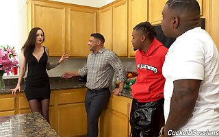 Kendra Cole enjoying an interracial trine roughly three fat dicked ragtag