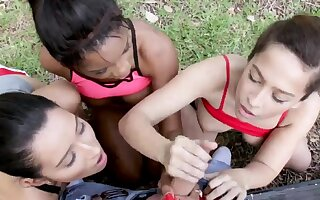 Latitudinarian orgy Instantly Annika Eve, Mya Mays, with an increment of their