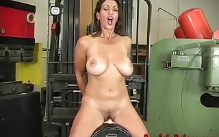 Busty Mature Milf Persia Monir Dirty Talking With an increment of Riding The Sybian To A Shaking Orgasm