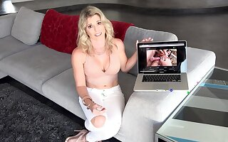 Special anal pleasures be useful to mommy after being affronting watching porn