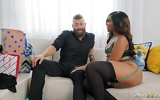 Smoking hot Gorgeous Aphro doesn't need more than his beamy dick