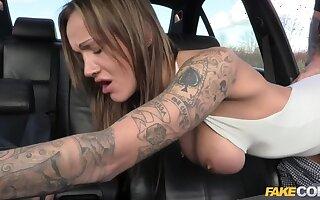 Anal slut gets cop cum in her butt