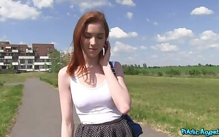 Redhead Student Fucked vulnerable a Hill
