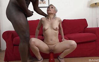 Interracial fucking with natural boobs blonde tot Kathy Sallow